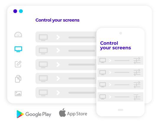 features control your screens